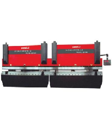 Тандемный гидравлический  листогибочный станок с ЧПУ эконом-класса Серия 2-WC67K
